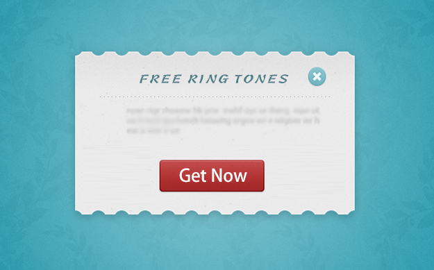 "What would you do if you saw this pop-up message on your screen? (""Free Ring Tones"""