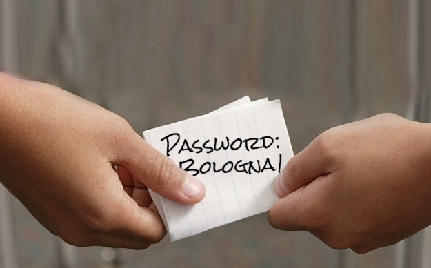 Do not write down your passwords on a sheet of paper. Don't share them with anyone either