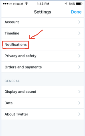 Twitter Quality Filter Screenshot: Settings Notifications