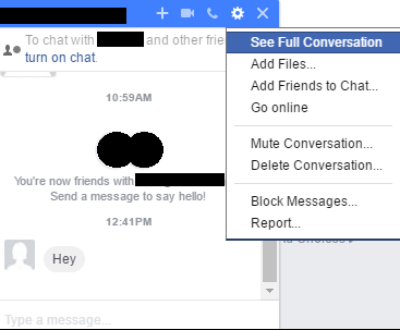 Facebook Inbox: See Full Conversation