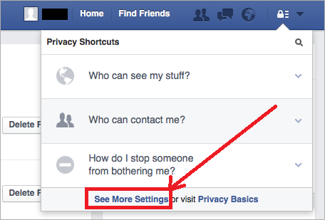 Facebook Privacy - Shortcuts