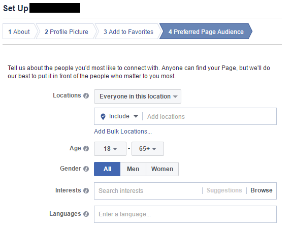 Facebook: Report Page (Set Up)