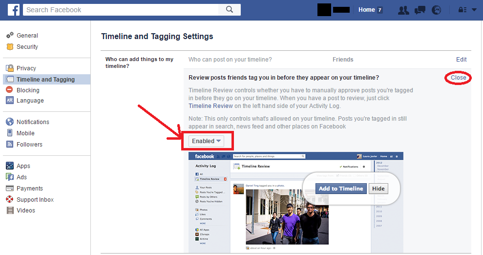 Facebook Timeline Tagging Review Posts