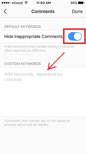 Instagram Comment Moderation Tool (Step 3)