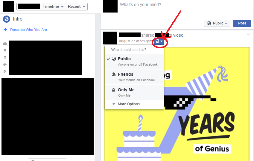 Review Facebook Posts - Privacy Settings (Already Posted)