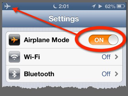 Mobile Phone - Airplane Mode Settings
