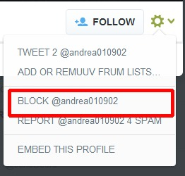 Block Twitter User (Final Step)